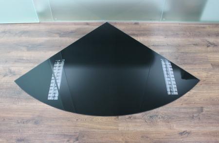 viertelkreis 120x120cm glas schwarz funkenschutzplatte. Black Bedroom Furniture Sets. Home Design Ideas
