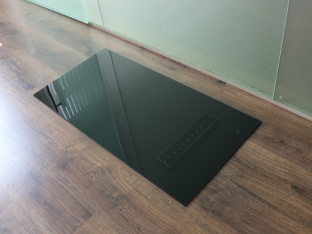 Milchglas Funkenschutzplatte Kaminbodenplatte ... Rechteck *Frosty* 120x60cm