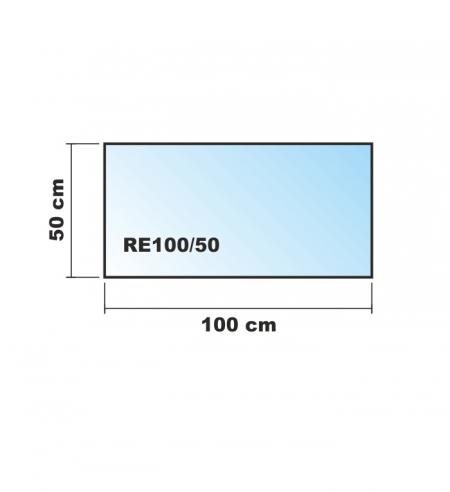 100x50cm glas schwarz echtglas k chenr ckwand spritzschutz. Black Bedroom Furniture Sets. Home Design Ideas