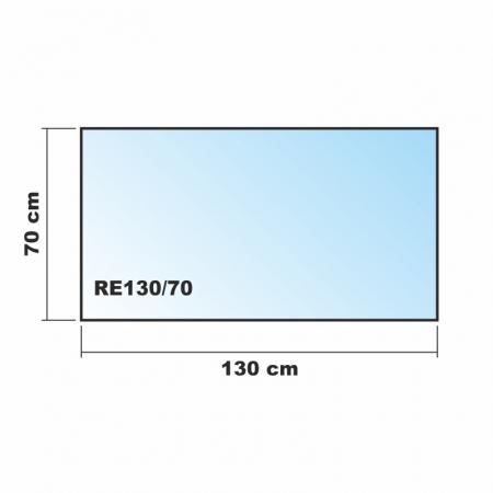 Frosty 130x70cm echtglas for Glasplatte fliesenspiegel