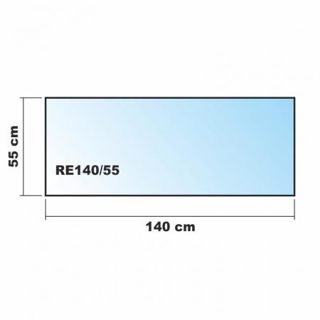 Rechteck frosty 140x55cm for Spritzschutz milchglas