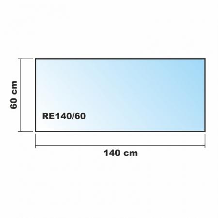 rechteck frosty 140x60cm kamin vorlegeplatte milchglas. Black Bedroom Furniture Sets. Home Design Ideas
