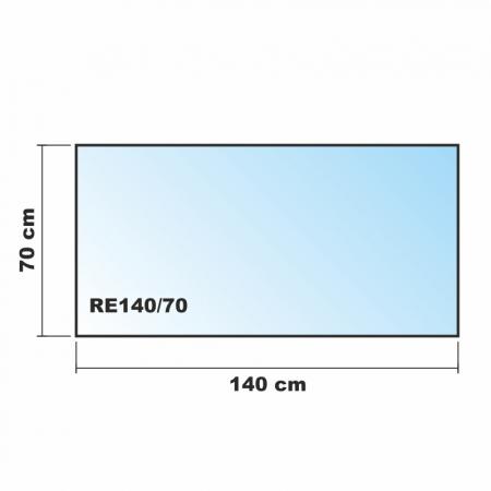 140x70cm glas schwarz echtglas for Glasplatte als spritzschutz