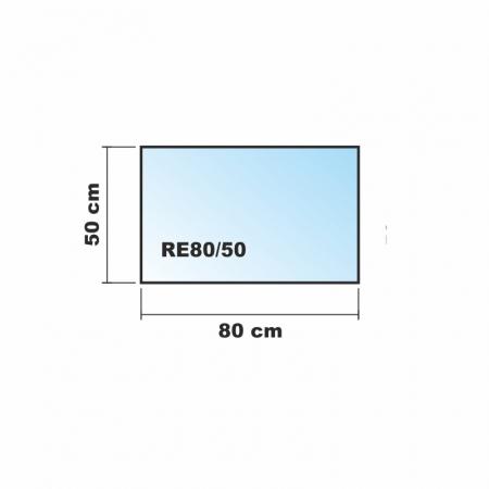 saisonplatte rechteck 80x50cm glas schwarz kamin vorlegeplatte. Black Bedroom Furniture Sets. Home Design Ideas