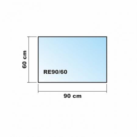 Klarglas, 70x55cm ECOfoxx Echtglas Tischtrennwand Akustik B/ürotisch Sichtschutz Sichtblende ESG Milchglas Klarglas Schwarzglas