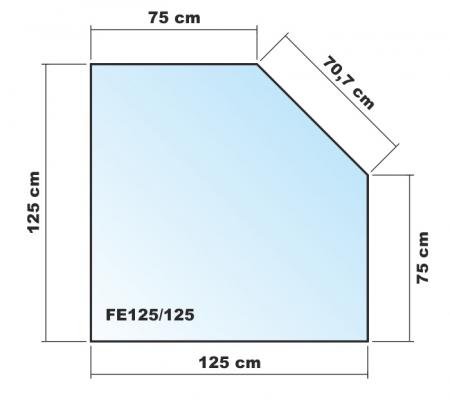 f nfeck 125x125cm glas schwarz. Black Bedroom Furniture Sets. Home Design Ideas