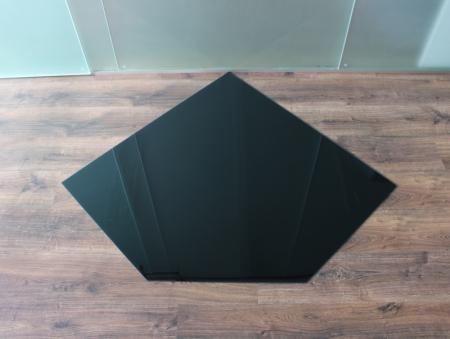 f nfeck 110x110cm glas schwarz funkenschutzplatte kaminbodenplatte. Black Bedroom Furniture Sets. Home Design Ideas
