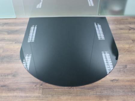 rundbogen 100x110cm glas schwarz funkenschutzplatte kaminbodenplatte. Black Bedroom Furniture Sets. Home Design Ideas