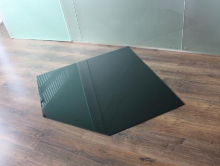 f nfeck 110x110cm glas schwarz. Black Bedroom Furniture Sets. Home Design Ideas
