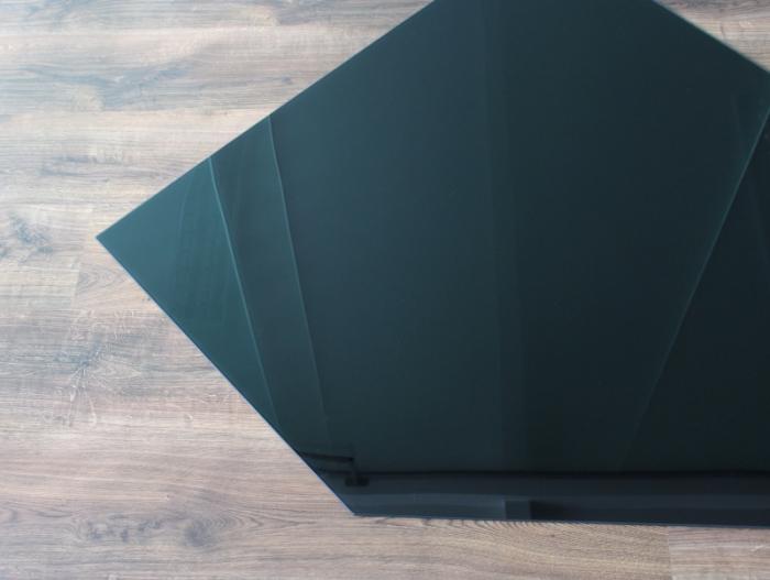 f nfeck 125x125cm glas schwarz funkenschutzplatte kaminbodenplatte. Black Bedroom Furniture Sets. Home Design Ideas