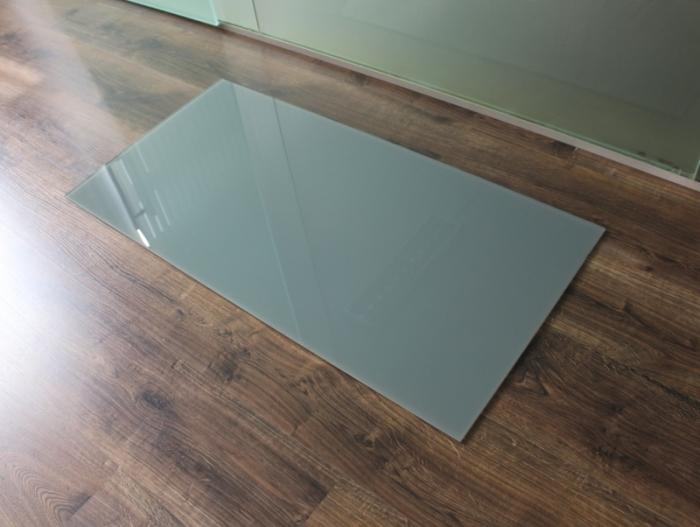 Rechteck 100x50cm glas grau for Glasplatte als spritzschutz