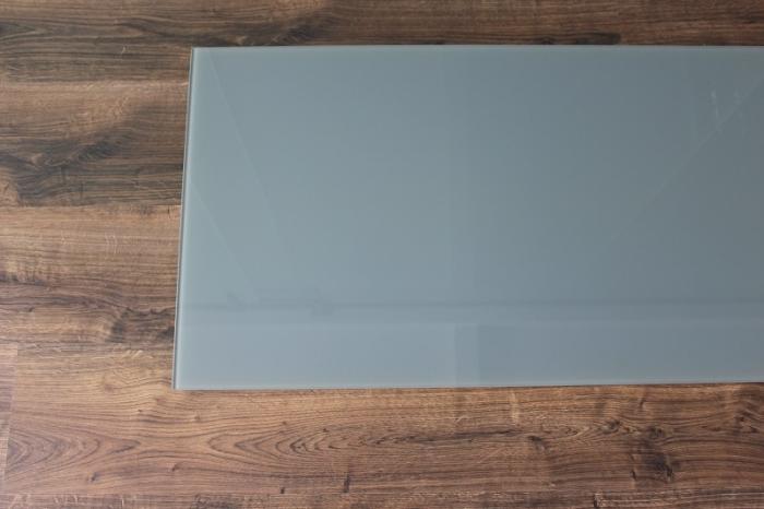 Rechteck 100x50cm glas grau for Glasplatte fliesenspiegel