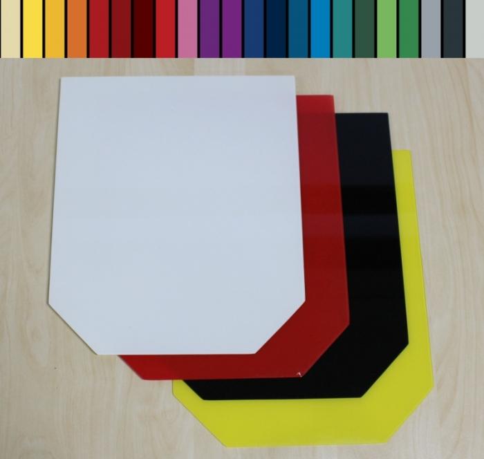 sechseck 100x120cm mit wunschfarbe funkenschutzplatte. Black Bedroom Furniture Sets. Home Design Ideas