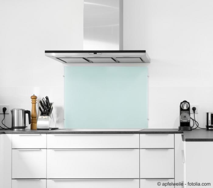 Frosty 110x55cm echtglas for Spritzschutz milchglas