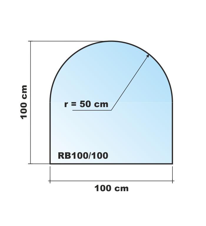 Tür Rundbogen Glas ~ Startseite » GLAS  BODENPLATTEN » Rundbogen 100x100cm Glas schwarz