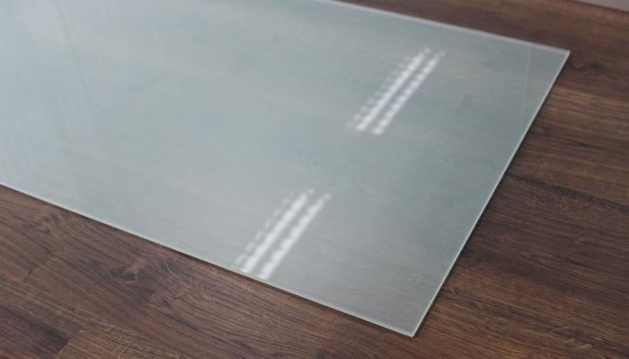 rechteck frosty 90x55cm kamin vorlegeplatte milchglas. Black Bedroom Furniture Sets. Home Design Ideas